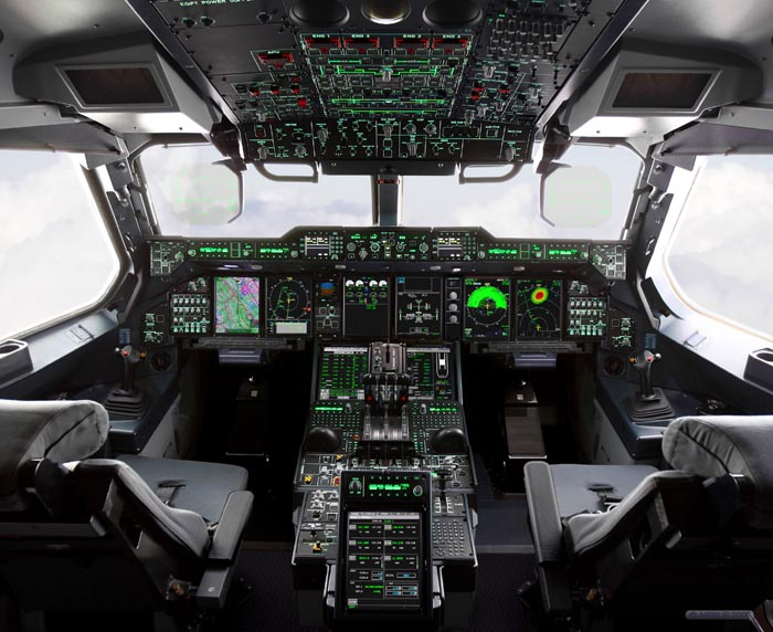 Thales single pilot cockpit