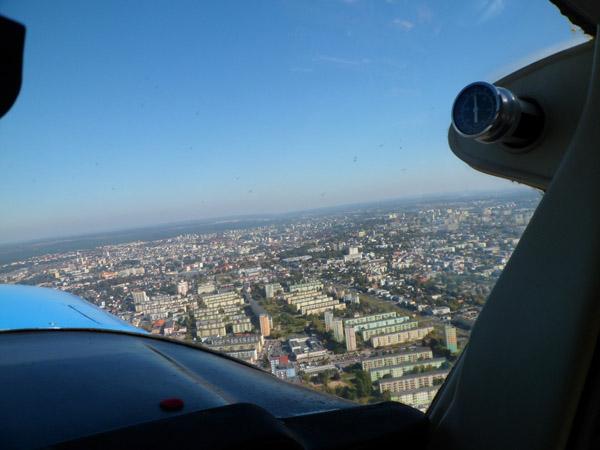 De stad Bydgoszcz na takeoff