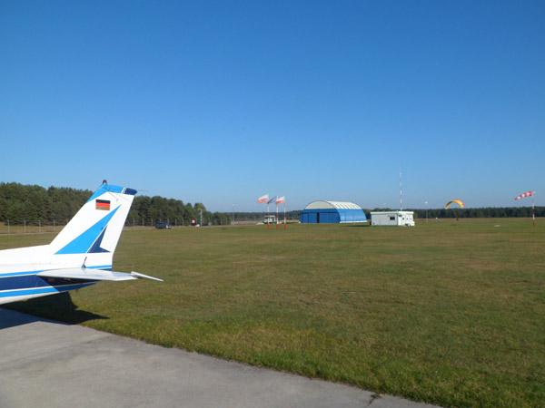 Het uitgestorven vliegveld van Gryzliny