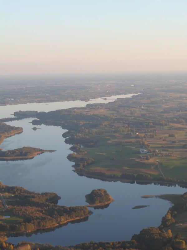 Één van de vele meren rond de grens met Polen en Litouwen.