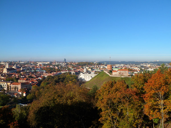 Uitzicht op Vilnius