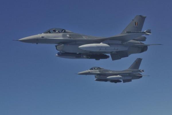 Belgische F-16AM's  afkomstig van 349 squadron.