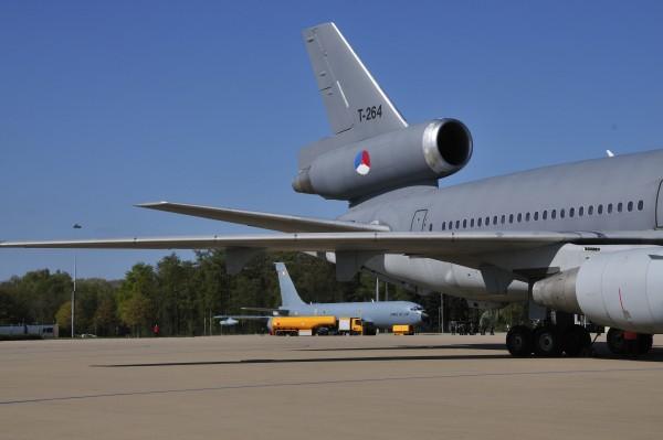 Doorkijkje naar Franse KC-135.